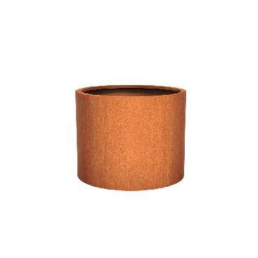 Pot rond ATLAS en acier corten 1000x800 mm