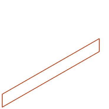 Bordures bord supérieur droit en acier corten 2300x2x100 mm