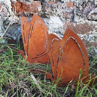 Grands papillons à visser en fer rouillé