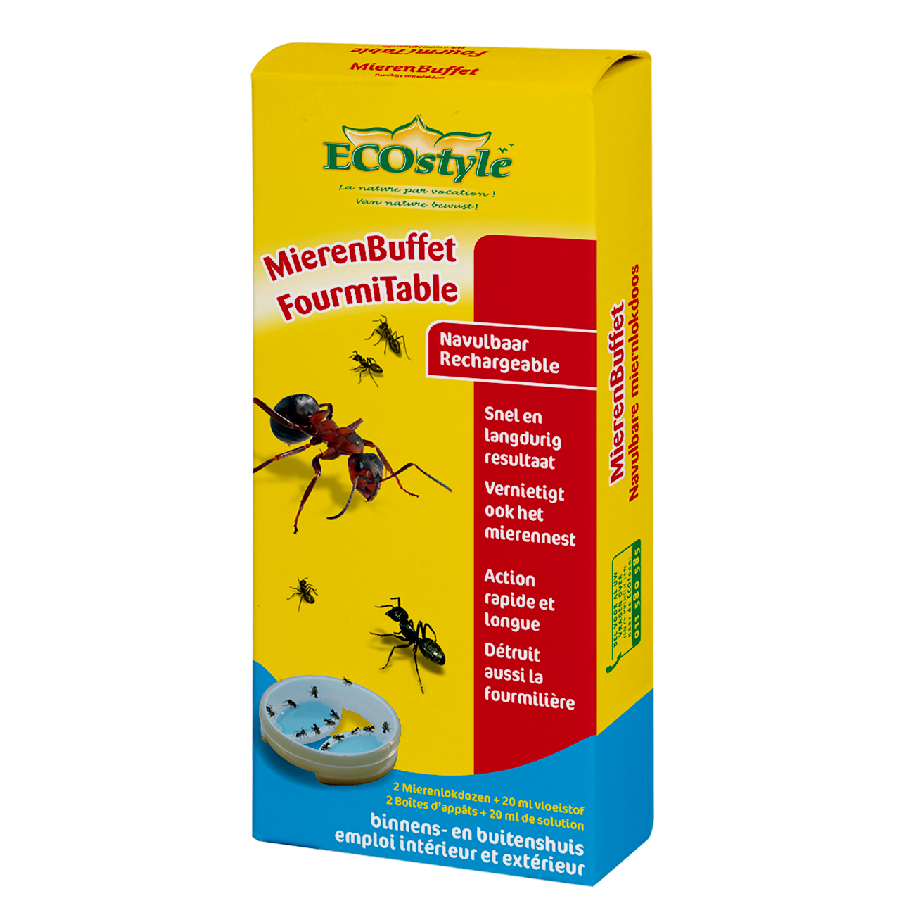 Boîtes d'appât anti-fourmis FourmiTable ECOstyle