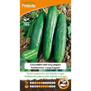 Protecta - Graines paysannes Concombre Vert Long Anglais
