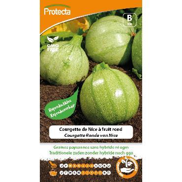 Protecta - Graines paysannes Courgette De Nice À Fruit Rond